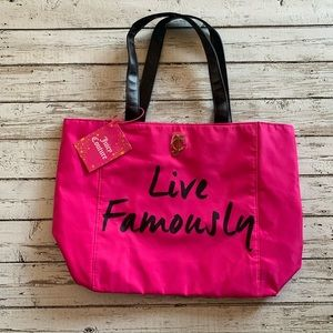 Juicy Couture Live Famously pink tote bag BNWT
